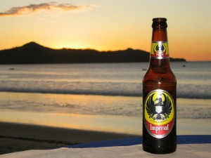 Craft beer in Costa Rica by the sunset